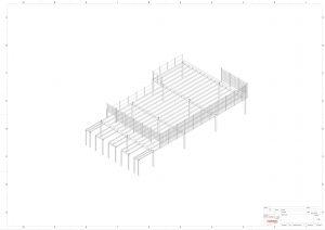 Zeichnung einer Stahlbühne